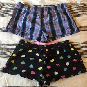 2, PINK VS Sleep Shorts